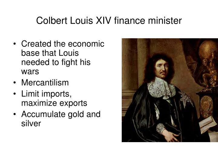 Colbert Louis XIV finance minister