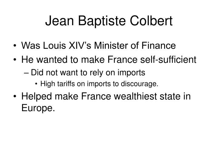 Jean Baptiste Colbert