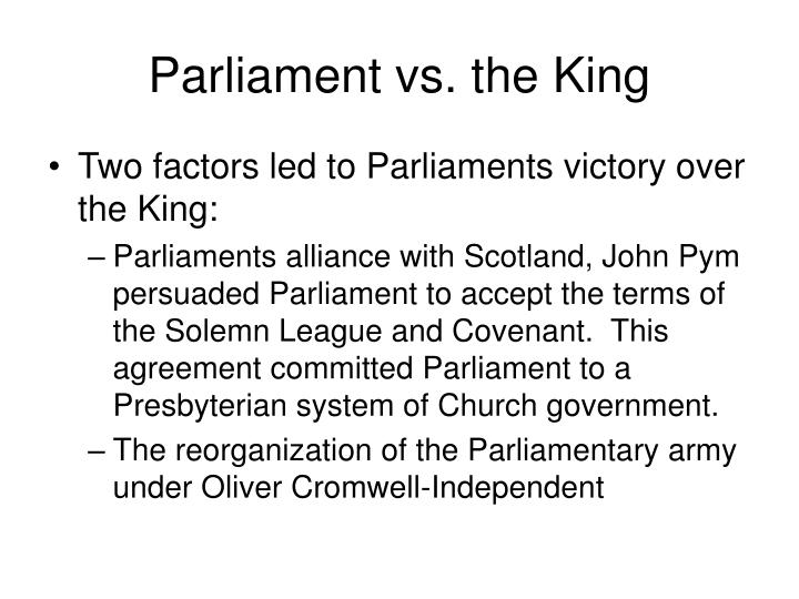 Parliament vs. the King