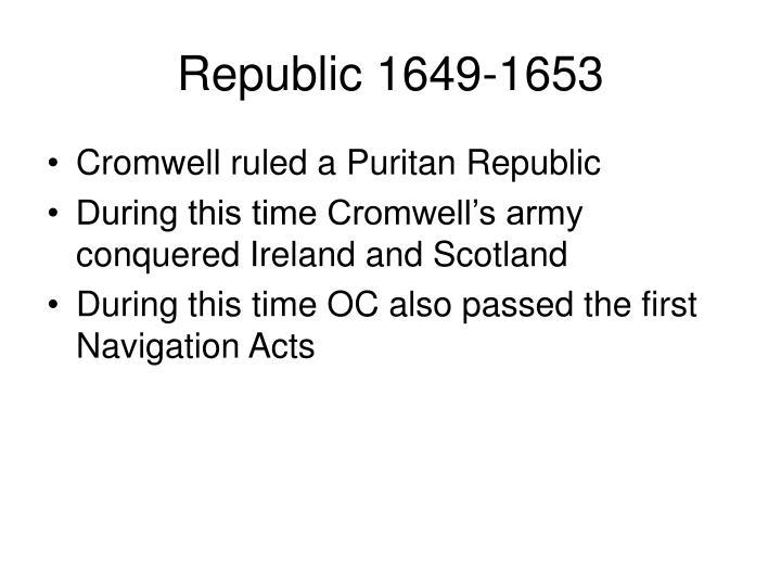 Republic 1649-1653