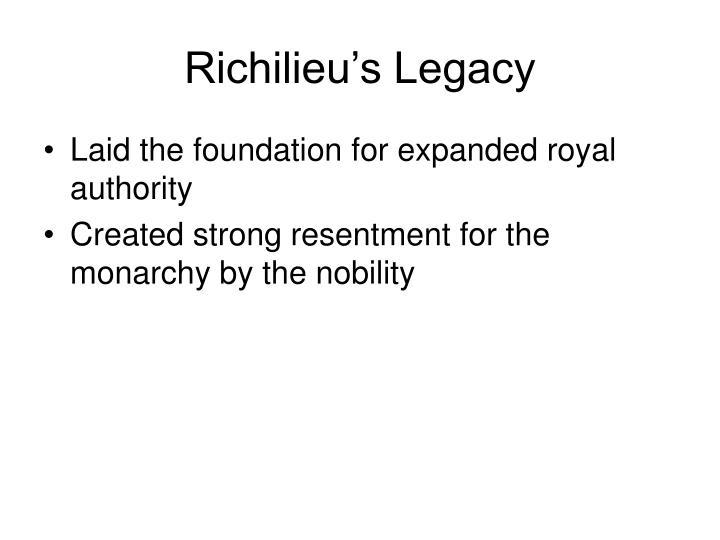 Richilieu's Legacy