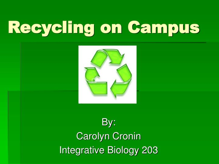 recycling on campus n.