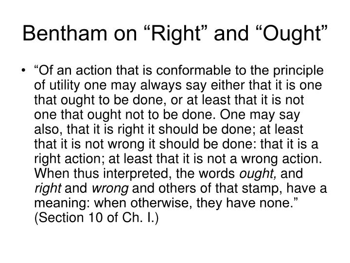 """Bentham on """"Right"""" and """"Ought"""""""