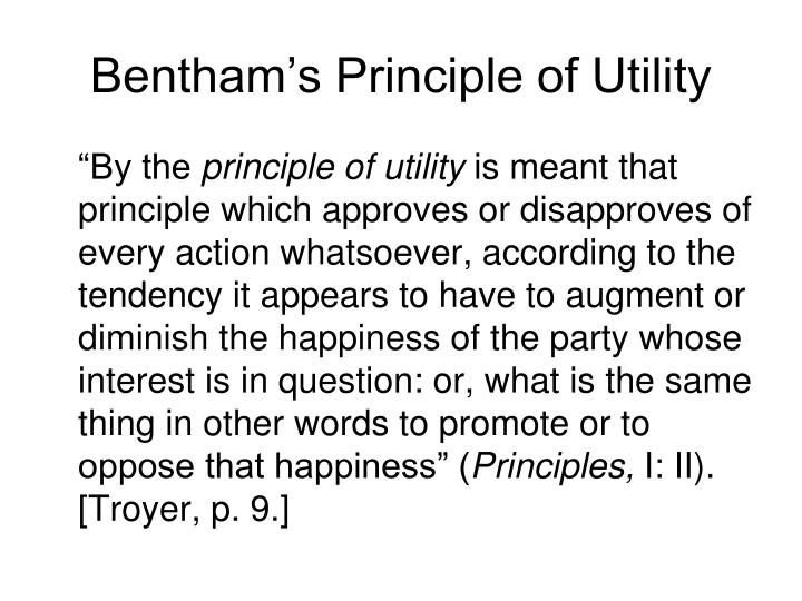 Bentham's Principle of Utility