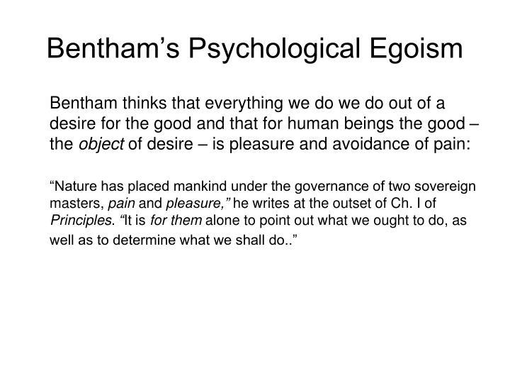 Bentham's Psychological Egoism