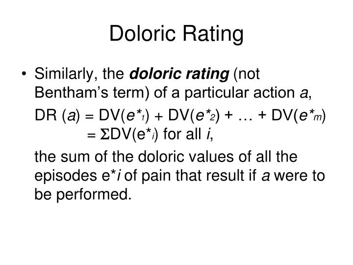 Doloric Rating