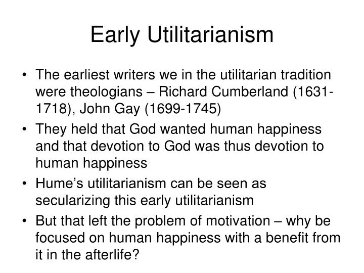 Early Utilitarianism