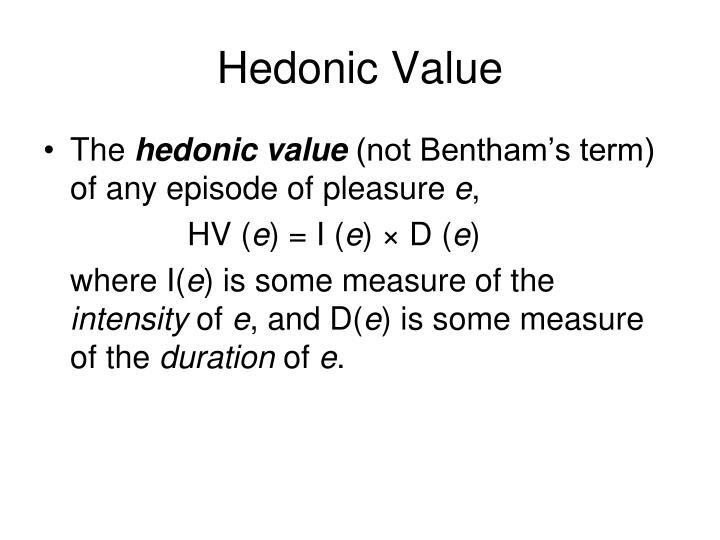 Hedonic Value