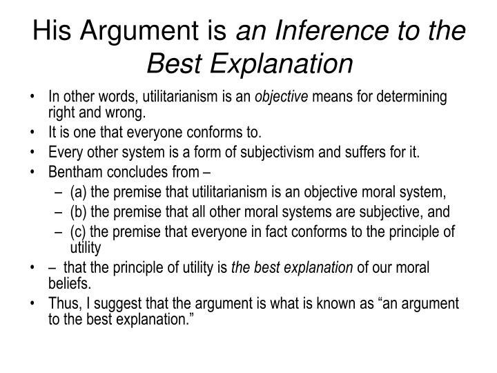 His Argument is