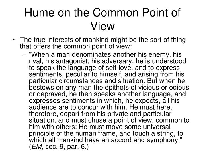 Hume on the Common Point of View
