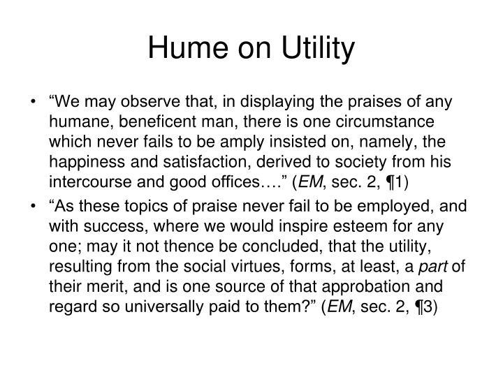 Hume on Utility