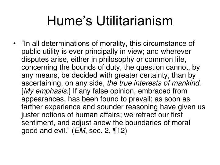 Hume's Utilitarianism
