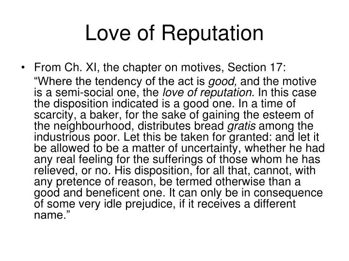 Love of Reputation