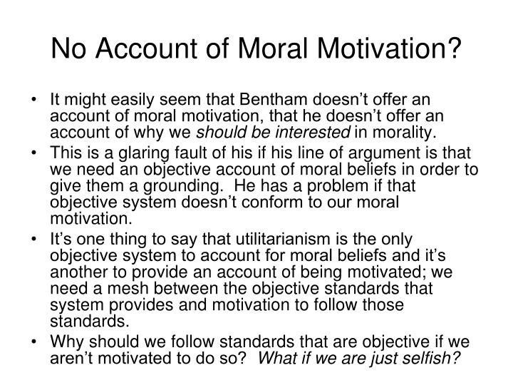 No Account of Moral Motivation?