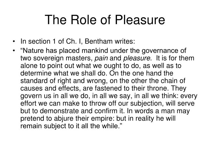The Role of Pleasure