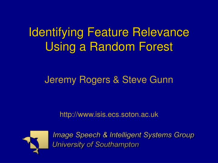 identifying feature relevance using a random forest n.