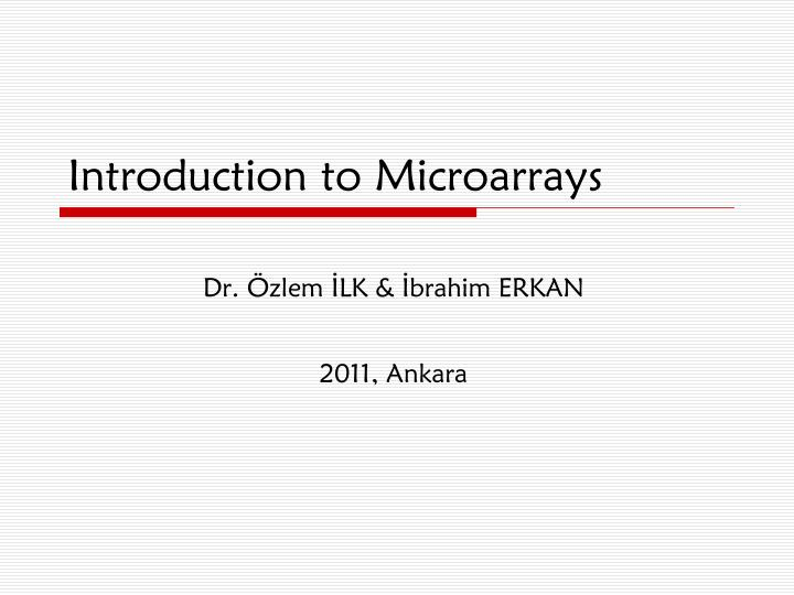 introduction to microarrays n.