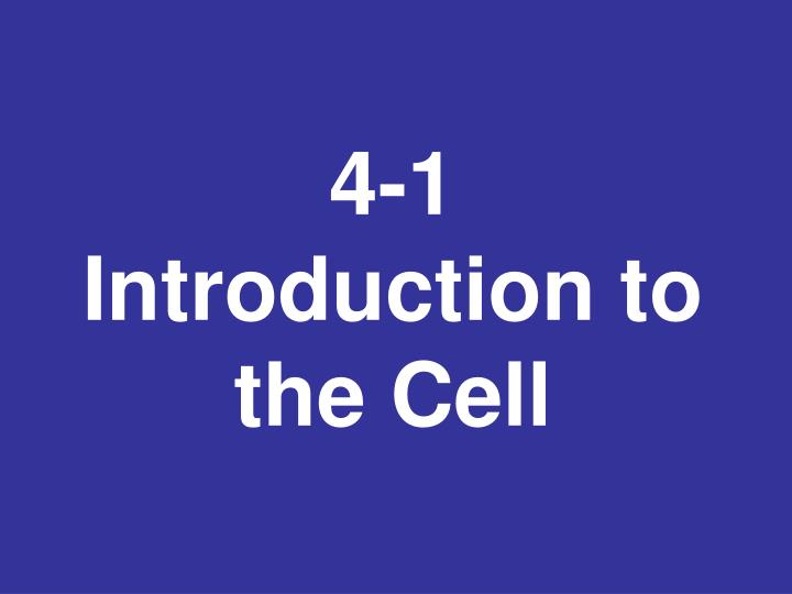 4 1 introduction to the cell n.