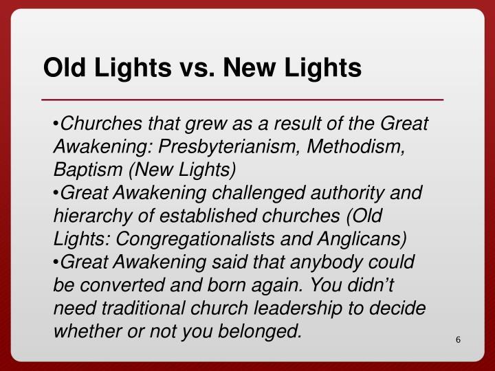 Old Lights vs. New Lights