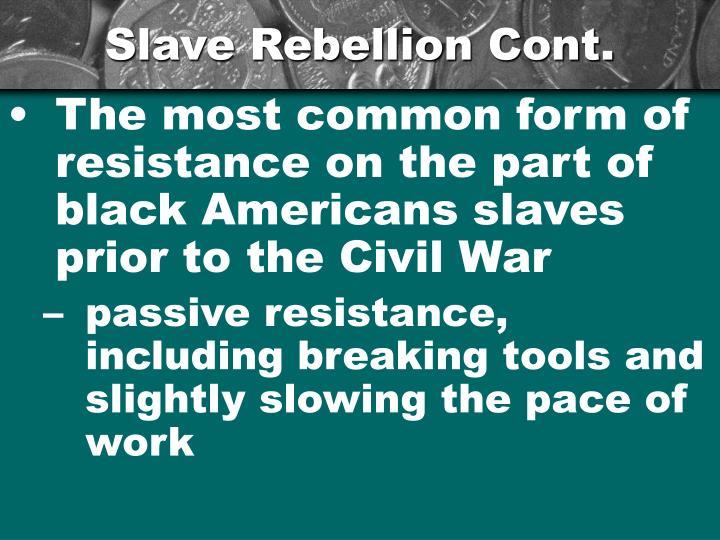 Slave Rebellion Cont.