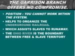 the garrison branch offers no compromise
