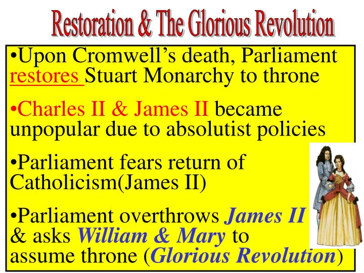 Restoration & The Glorious Revolution
