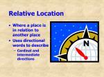 relative location