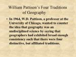 william pattison s four traditions of geography