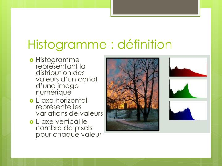Histogramme d finition