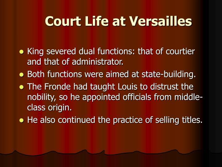 Court Life at Versailles