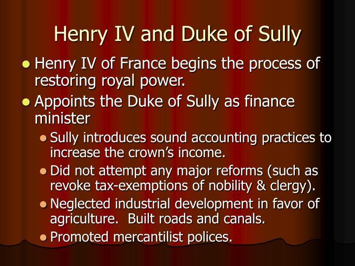 Henry IV and Duke of Sully