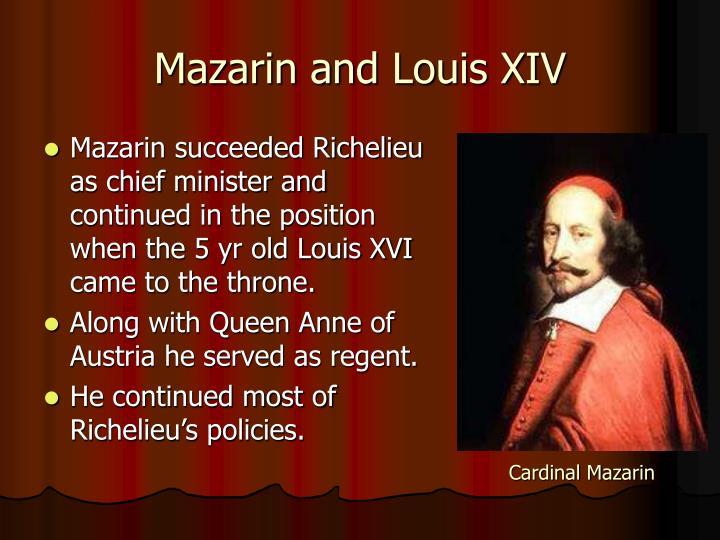 Mazarin and Louis XIV