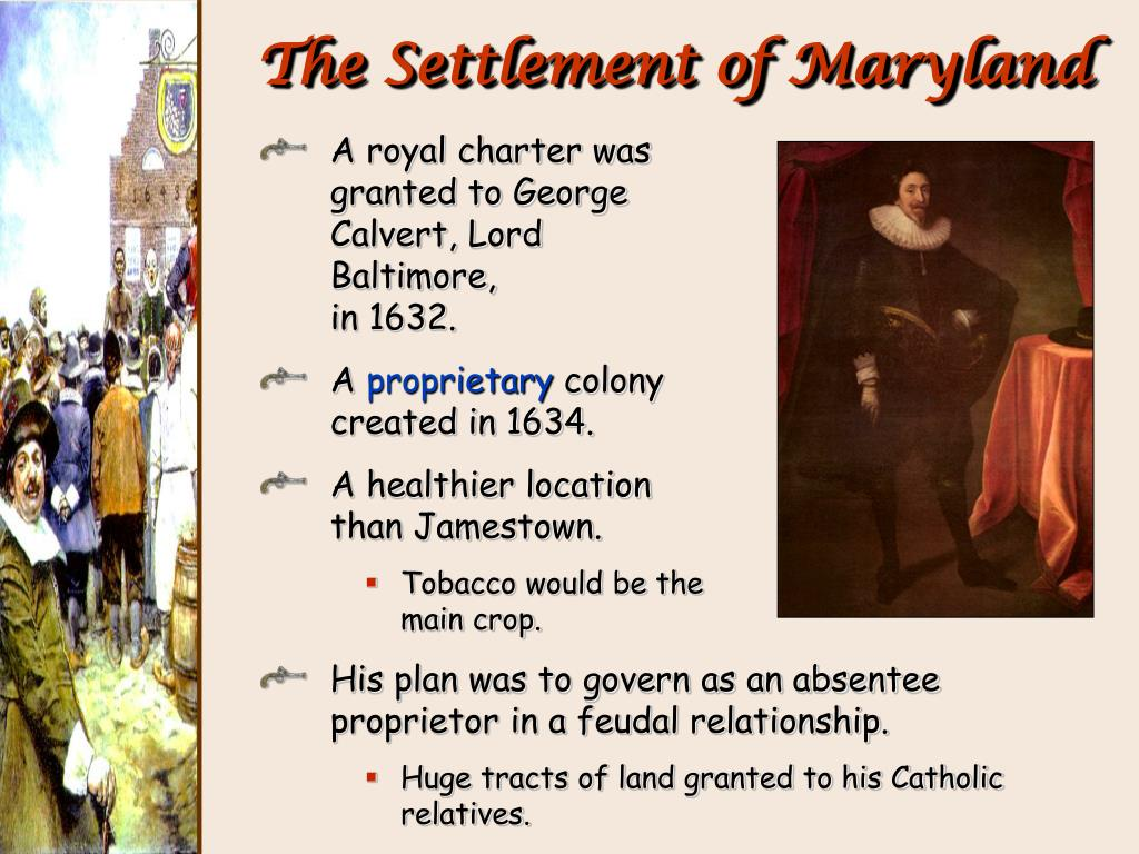 Image result for The settlement of Maryland