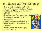the spanish search for the french