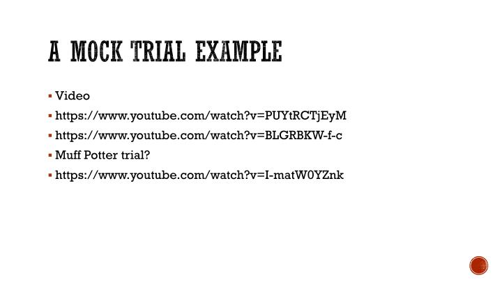 A mock trial example