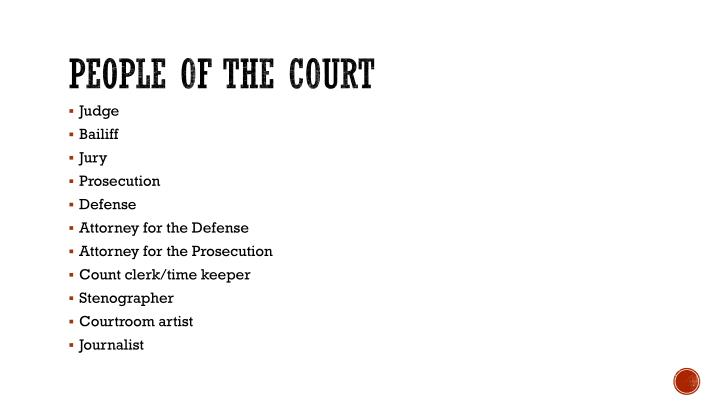 People of the court