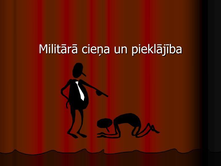 Militārā cieņa un pieklājība