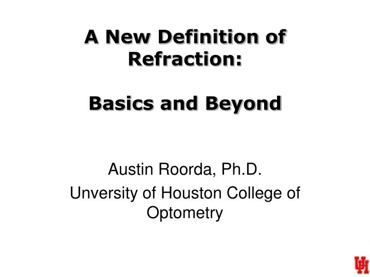 a new definition of refraction basics and beyond n.