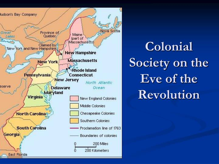 colonial society on the eve of the revolution n.
