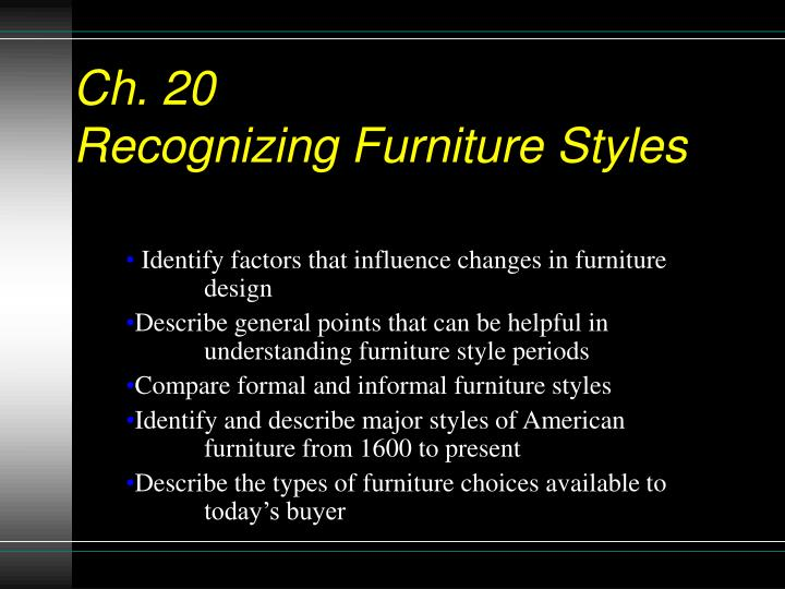 ch 20 recognizing furniture styles n.