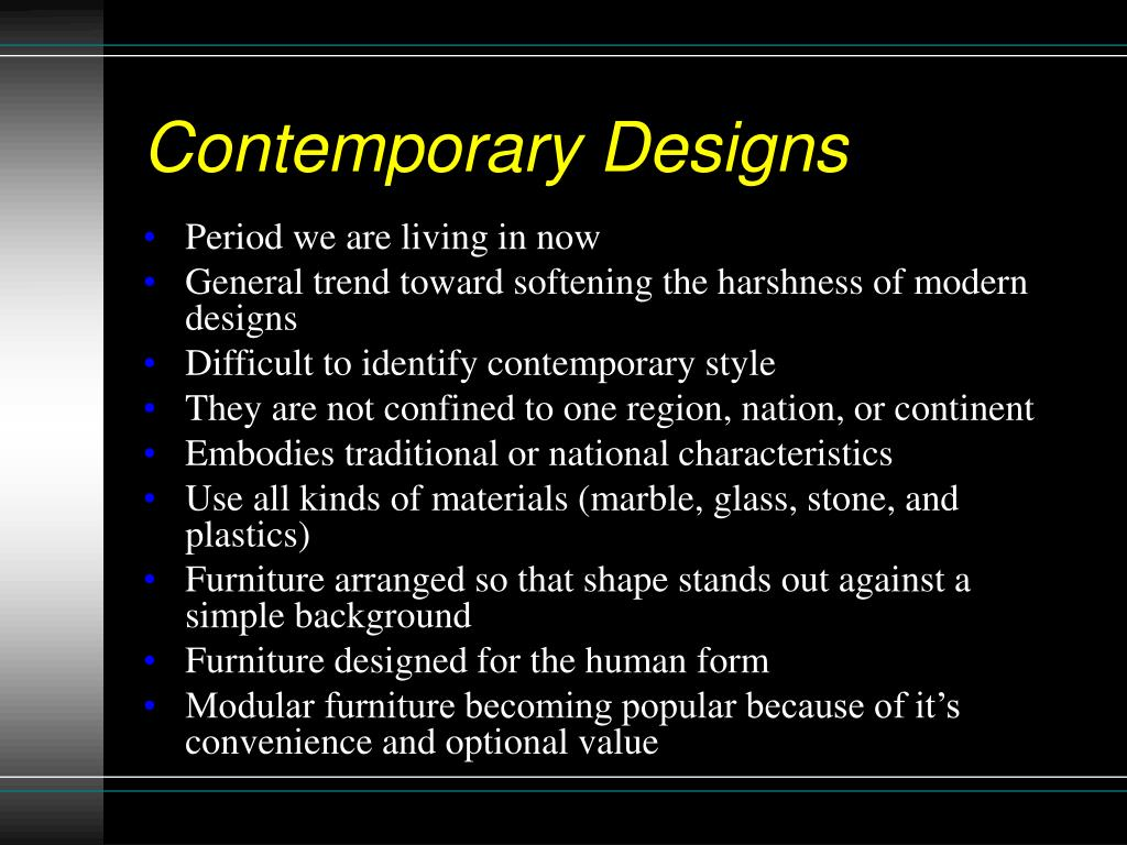 Ppt Ch 20 Recognizing Furniture Styles Powerpoint