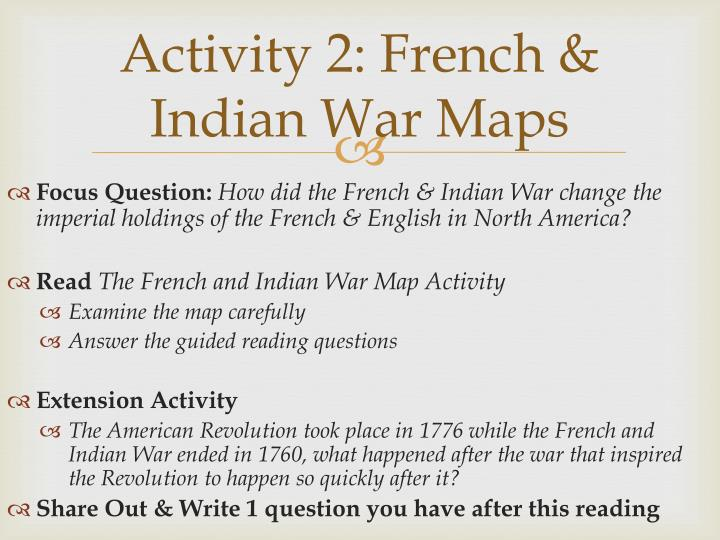 Activity 2: French & Indian War Maps