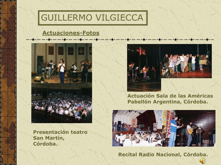 GUILLERMO VILGIECCA