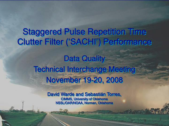 staggered pulse repetition time clutter filter sachi performance n.
