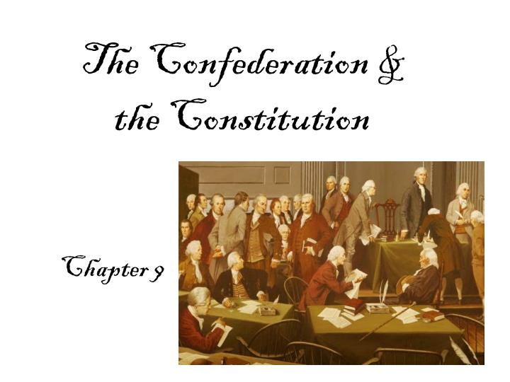the confederation the constitution n.