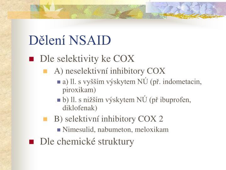 Dělení NSAID