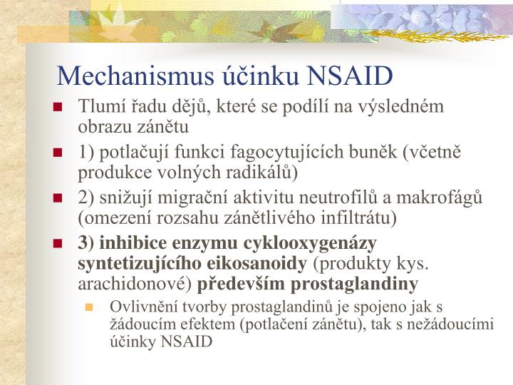 Mechanismus účinku NSAID