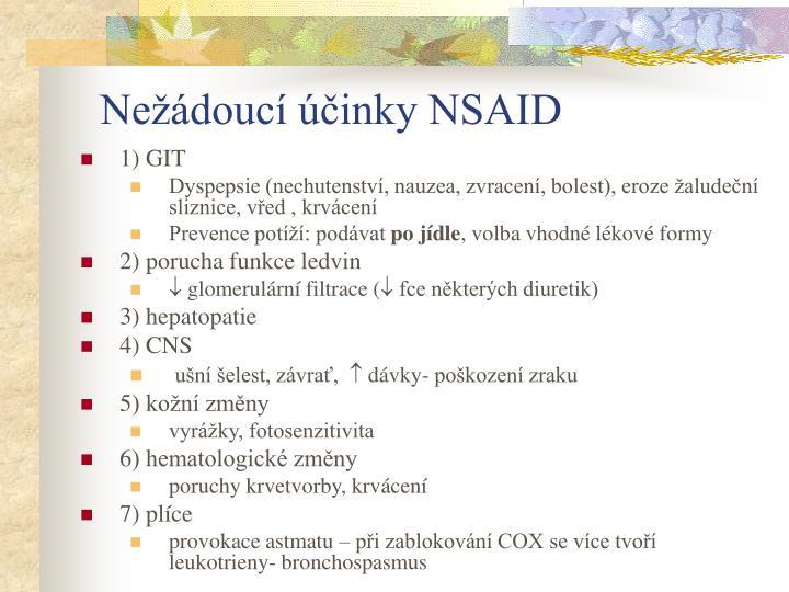 Nežádoucí účinky NSAID