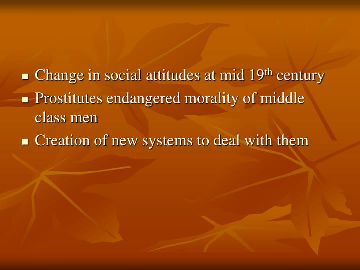 Change in social attitudes at mid 19