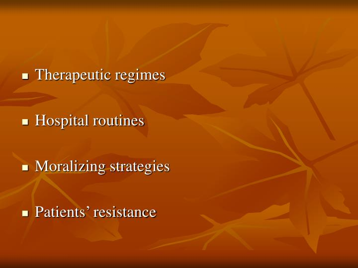 Therapeutic regimes